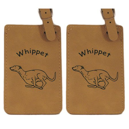 Whippet Running  Luggage Tag 2Pk By Gulf Coast Laser Graphics L4229