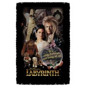 Labyrinth Only Forever Woven Throw White 48X80
