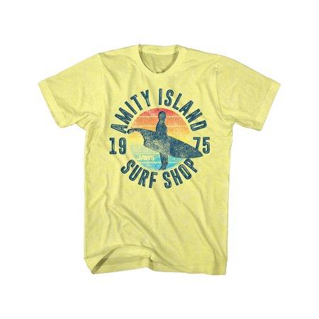 Jaws Shark Thriller Spielberg Movie Amity Island75 Surf Shop Adult T Shirt Tee