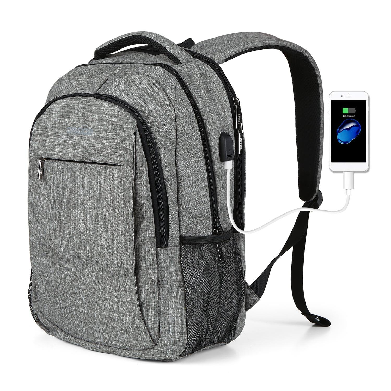 16 inches Computer shoulder bag Business backpack Travel bag Student bag Waterproof University Campus computer bag Blue