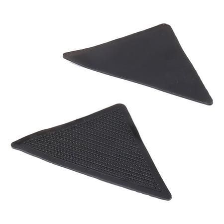 Household Reusable Non Slip Sticker Carpet Pad Underlay Tape Rug Grippers 2pcs Black ()