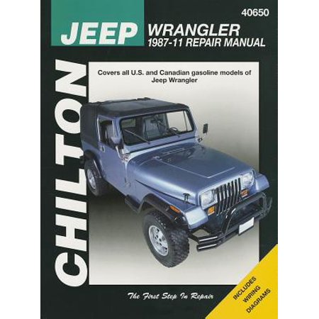 jeep repair diagrams chilton s jeep wrangler 1987 11 repair manual walmart com  jeep wrangler 1987 11 repair manual