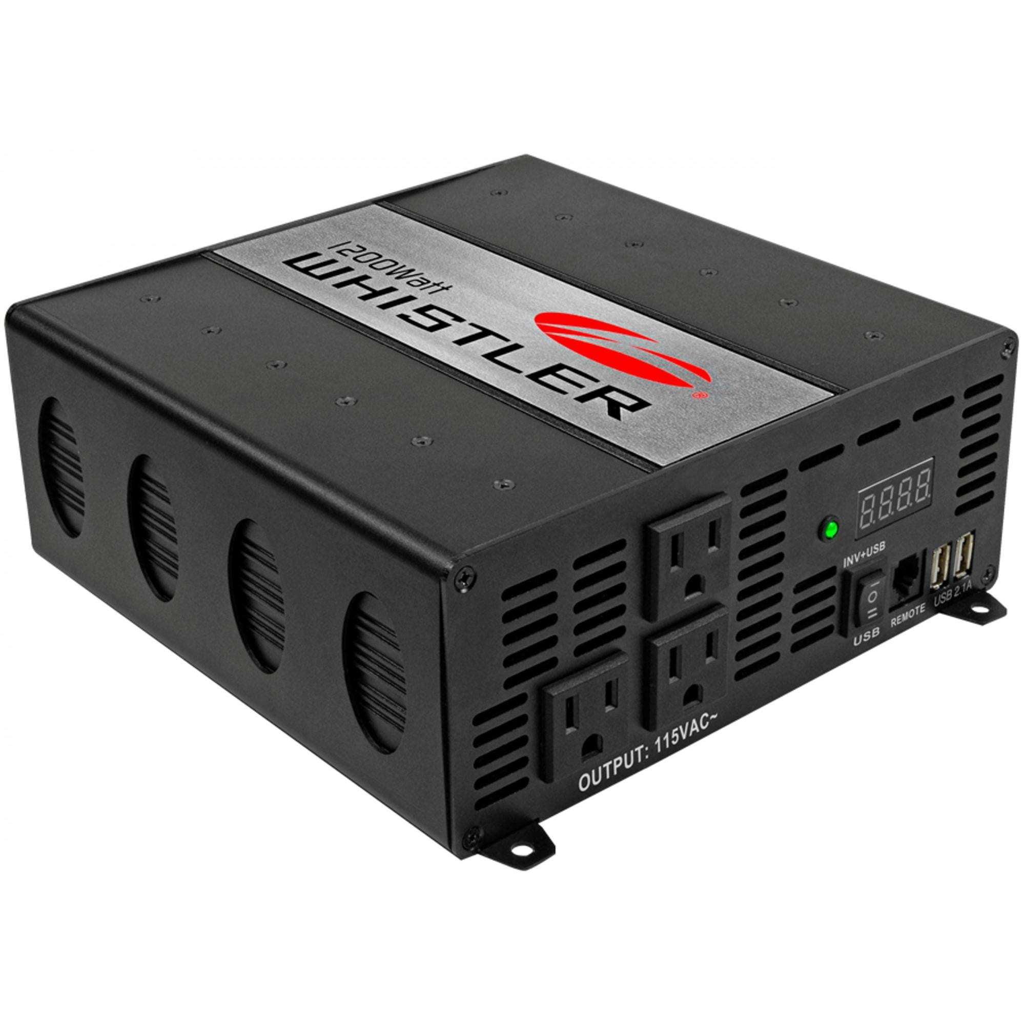 Whistler 2000W 12V DC to 115V AC Power Inverter w/ Circuit Protection