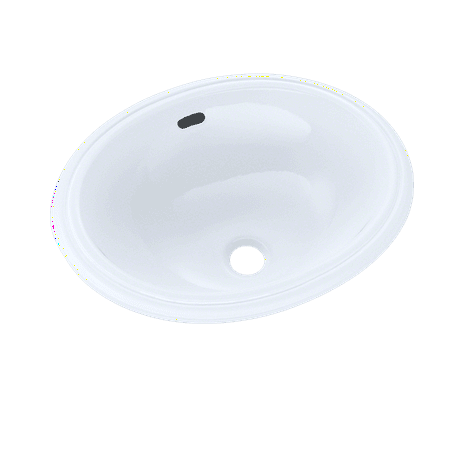 "TOTO® Oval 15"" x 12"" Narrow Undermount Bathroom Sink, Cotton White - LT577#01"