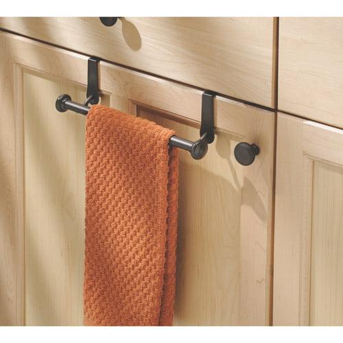 InterDesign York Over-the-Cabinet Kitchen Dish Towel Bar Holder, Bronze by INTERDESIGN