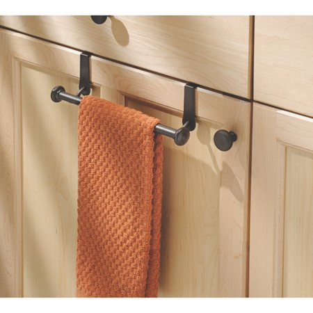 Interdesign York Over The Cabinet Kitchen Dish Towel Bar Holder Bronze