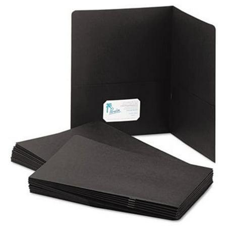 Ability One 5552905 Letter Size Double Pocket Portfolio, Black - image 1 de 1
