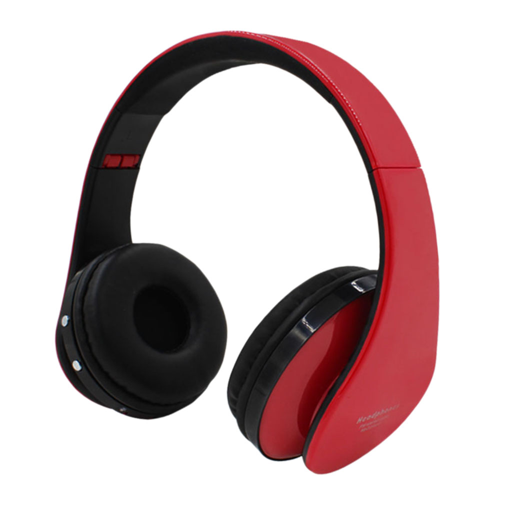 New Bluetooth V4.0 Wireless Stereo Headphone Headset Earphone For Mobile Phone Black/Red~~