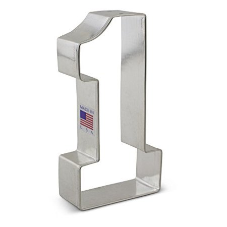 Large Number One #1 Cookie Cutter - 4.4 Inches Ann Clark - US Tin Plated Steel ()