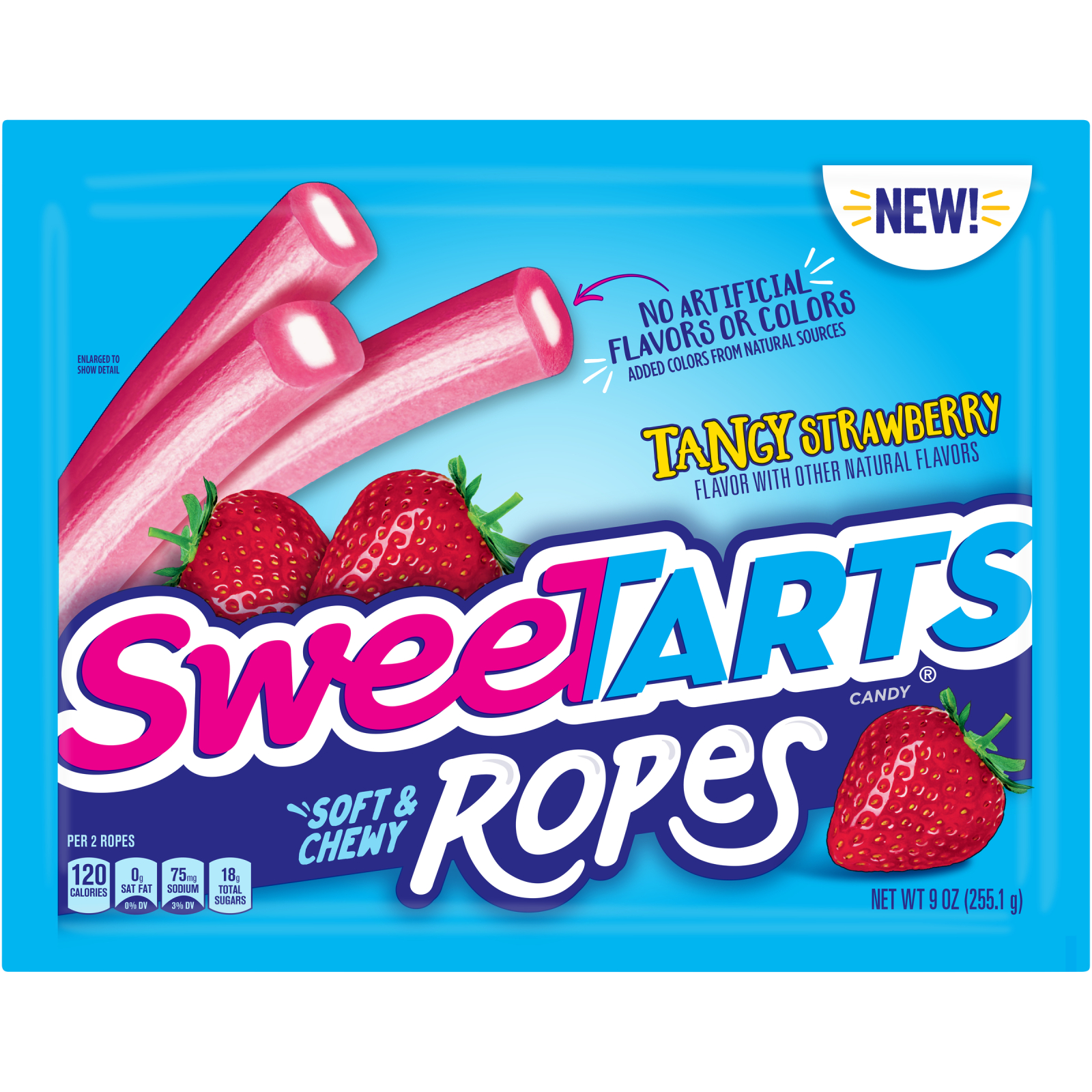 SweeTarts, Soft & Chewy Tangy Strawberry Ropes, 9 Oz