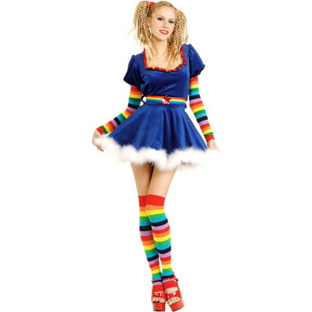 Rainbow Girl Adult Halloween Costume