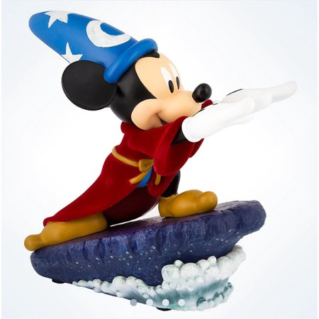 Mickey Mouse Statues (Disney Medium Figure Statue Sorcerer Mickey Mouse Light-Up Figurine New With)