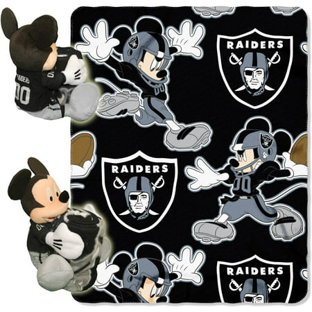 Disney NFL Oakland Raiders Hugger Pillow and 40