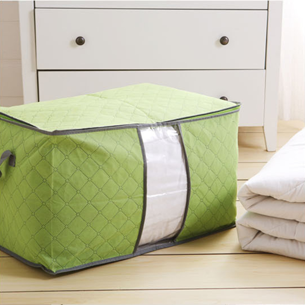 Holiday Clearance 4 Colors Large Foldable Storage Bag Clothes Quilt Sweater Organizer Pouch