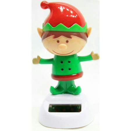 Solar Power Dancing Christmas Figurine (Santa's Little Helper Elf) By Greenbrier International - Christmas Elves Dance