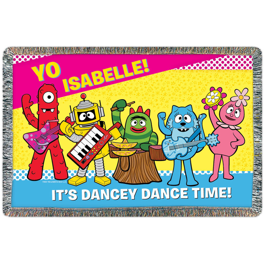 Personalized Yo Gabba Gabba Dancey Dance Throw