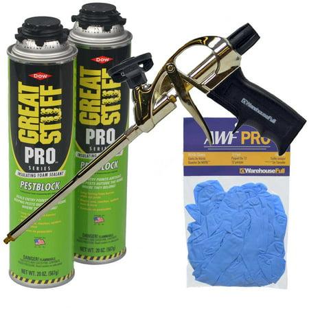 Great Stuff Pro Pestblock Foam Sealant Kit with Pro Foam Gun and Gloves