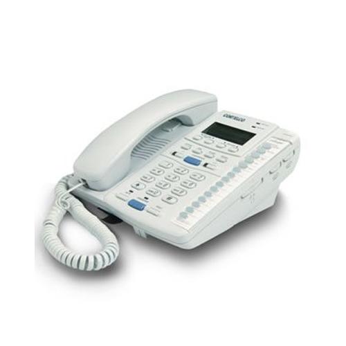 Cortelco ITT-2220-Frost Corded Phone - 2-Line Operation