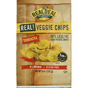 The Real Deal All Natural Snacks Sriracha Real! Veggie Chips, 6 oz, (pack of 12)