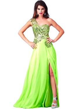 ad7621d16d5 Free shipping. Product Image Cassandra Stone by Mac Duggal Womens Chiffon  Embellished Formal Dress
