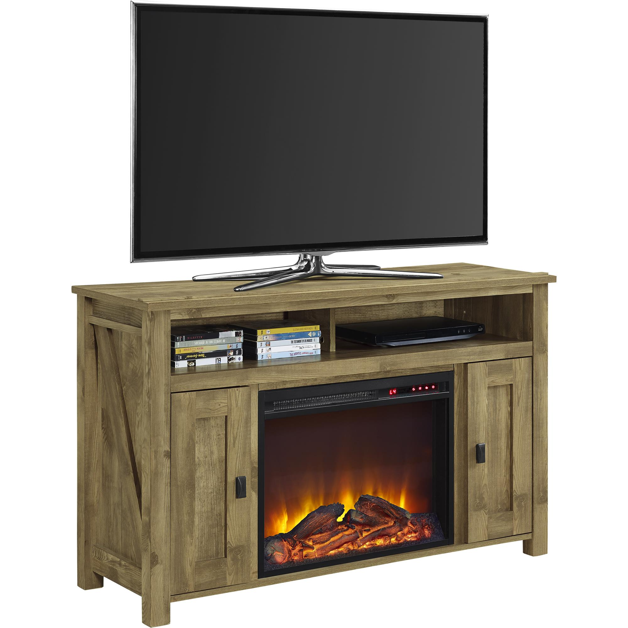 Ameriwood Home Farmington Electric Fireplace TV Console for TVs Multiple Colors and Sizes