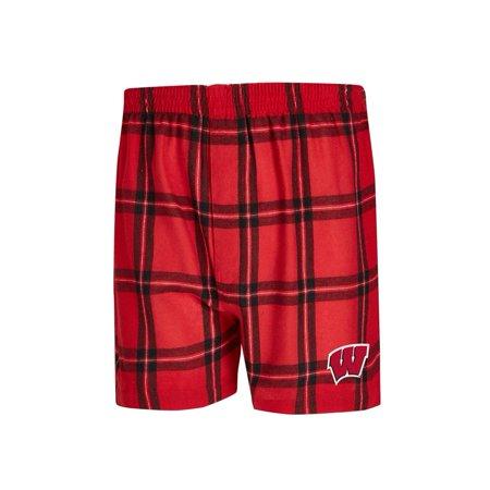 Wisconsin Badgers Shorts (University of Wisconsin Badgers Men's Boxers Flannel Boxer)