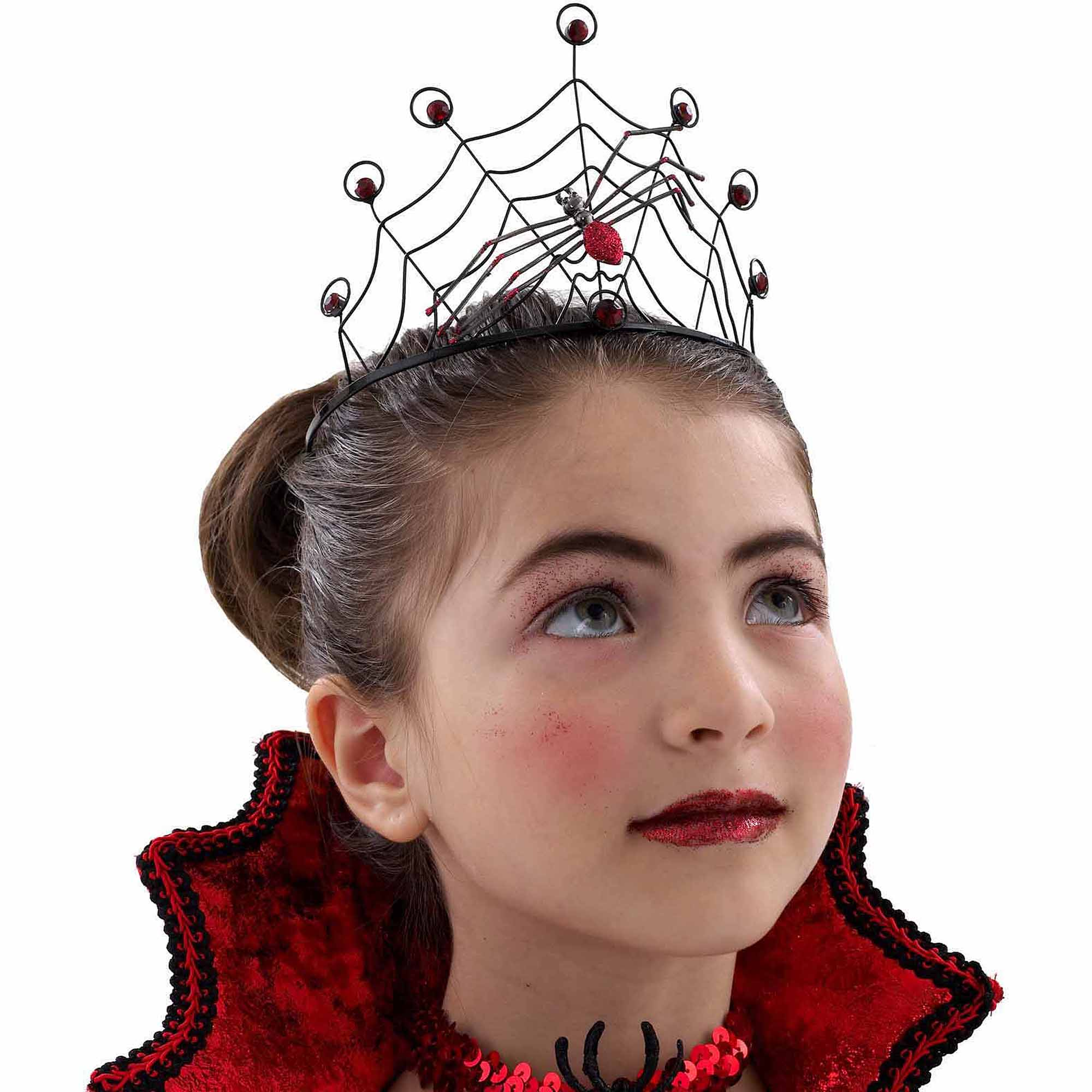 Red Spider Child Crown Adult Halloween Costume Accessory