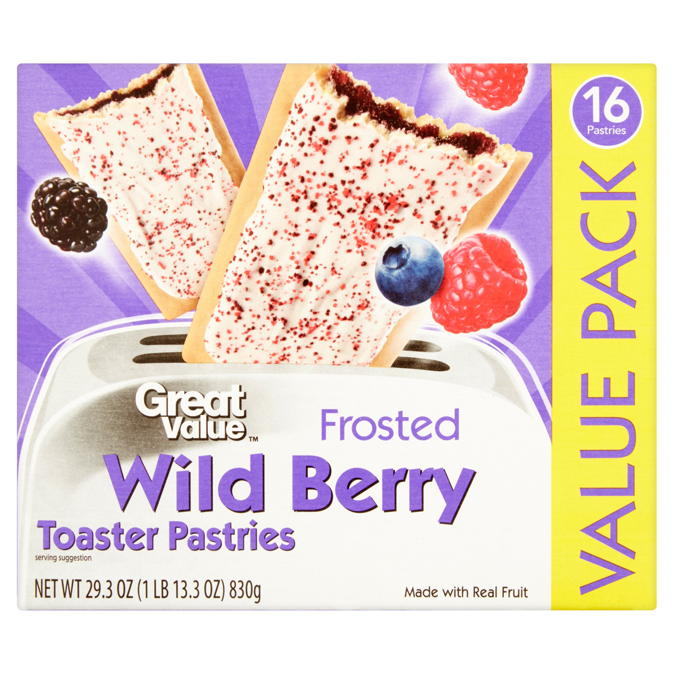 Great Value Frosted Wild Berry Toaster Pastries, 16ct by Wal-Mart Stores, Inc.