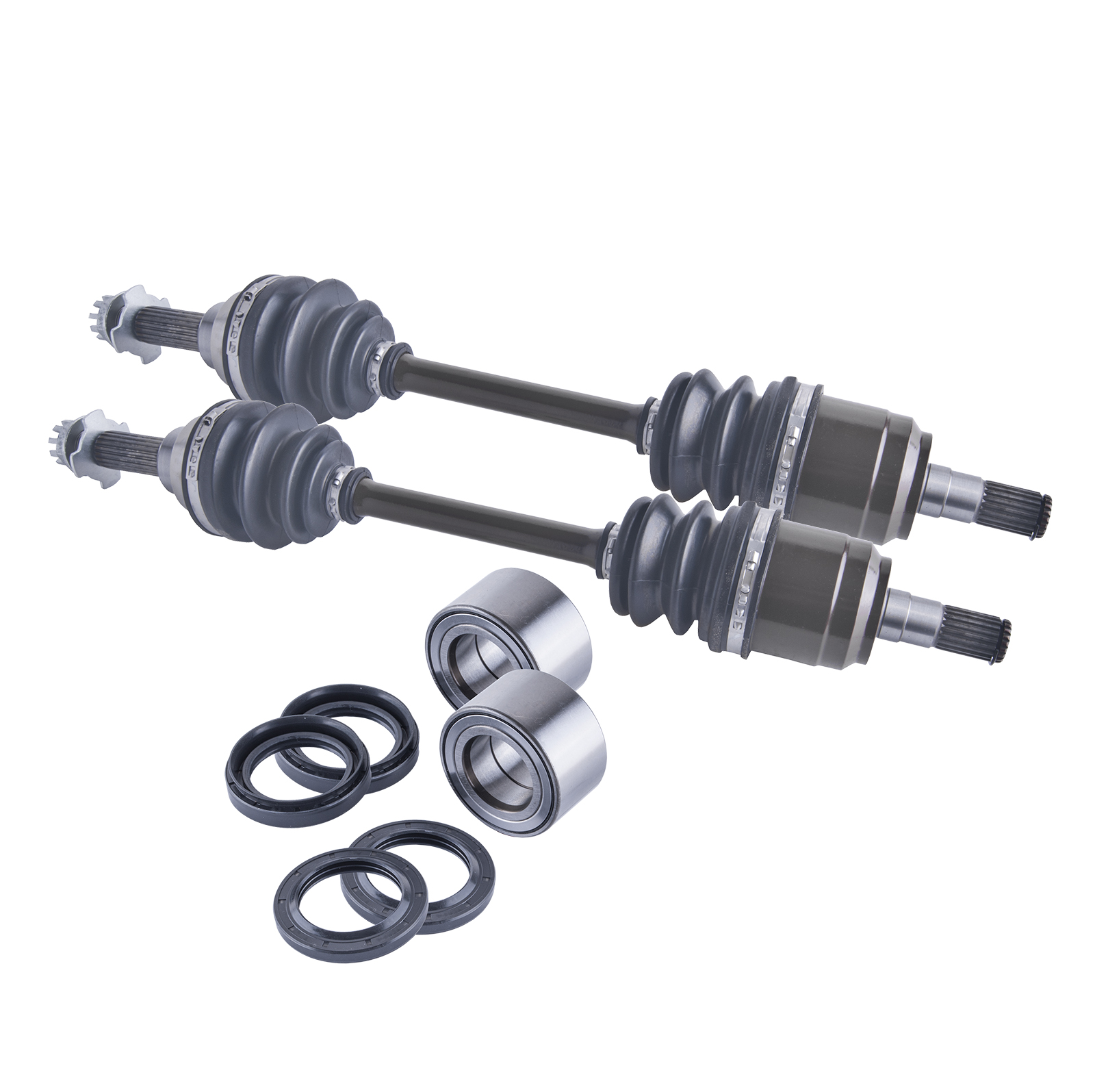 Suzuki King Quad 450 /700 front cv axles, wheel bearings & seals set 2006 - 2009