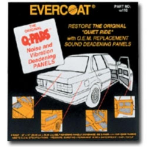 Fibreglass Evercoat 116 Q-pads Sound Deadener 12 X 12 6/pk