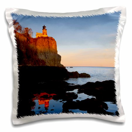 3dRose Split Rock Lighthouse, Two Harbors, Minnesota - US24 CHA0071 - Chuck Haney - Pillow Case, 16 by 16-inch