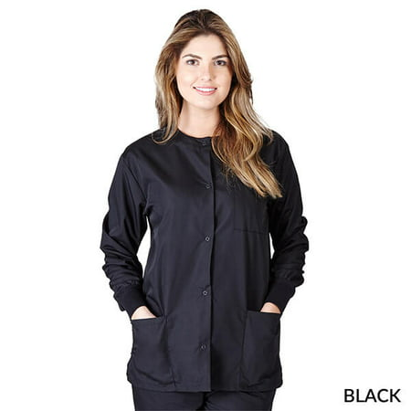 WOMENS SCRUB JACKET MANY COLORS SIZES XS-5XL FREE SHIPPING (Scrub Jackets For Nurses)
