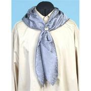RW063-GRY-ONE Mens Rangewear Silk Scarf, Grey, One Size