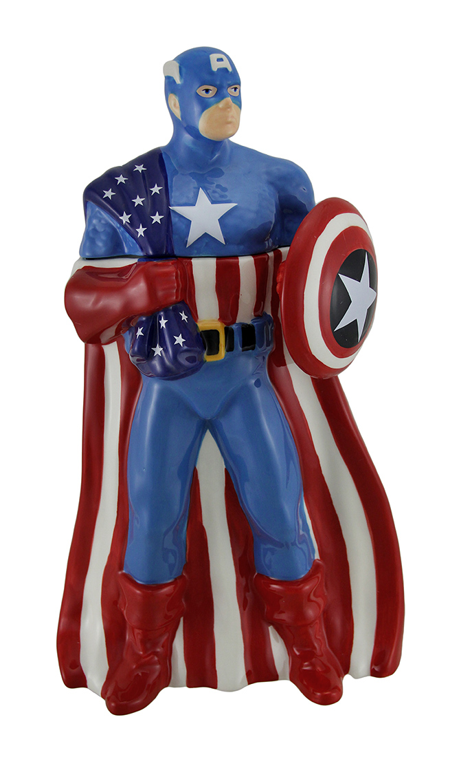 Captain Cookie Officially Licensed Captain America Ceramic Cookie Jar by B G Sales Inc.