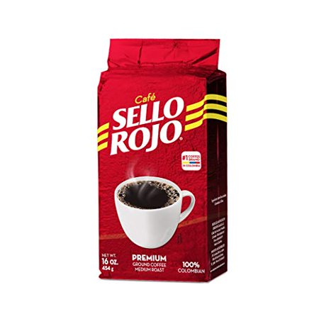 Cafe De Colombia Jersey (Cafe Sello Rojo 100% Premium Colombian Coffee 16 oz)