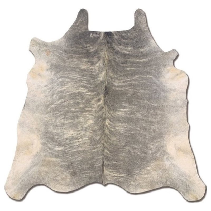 Hawthorne Collection Hand Crafted Cow Hide Rug in Light Brindle