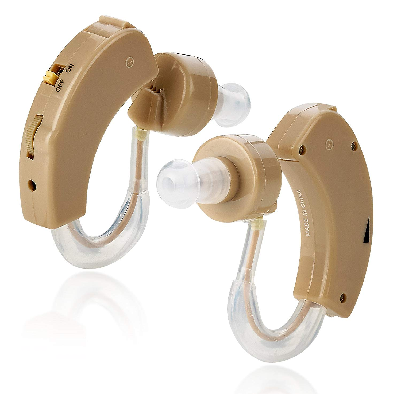 MEDca BTE Behind the Ear Sound Amplifier | Super Mini Size Sound Enhancer For Better Hearing (Pair)