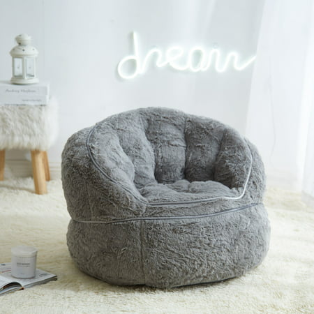 Astonishing Urban Shop Faux Fur Kids Size Bean Bag Chair Multiple Alphanode Cool Chair Designs And Ideas Alphanodeonline