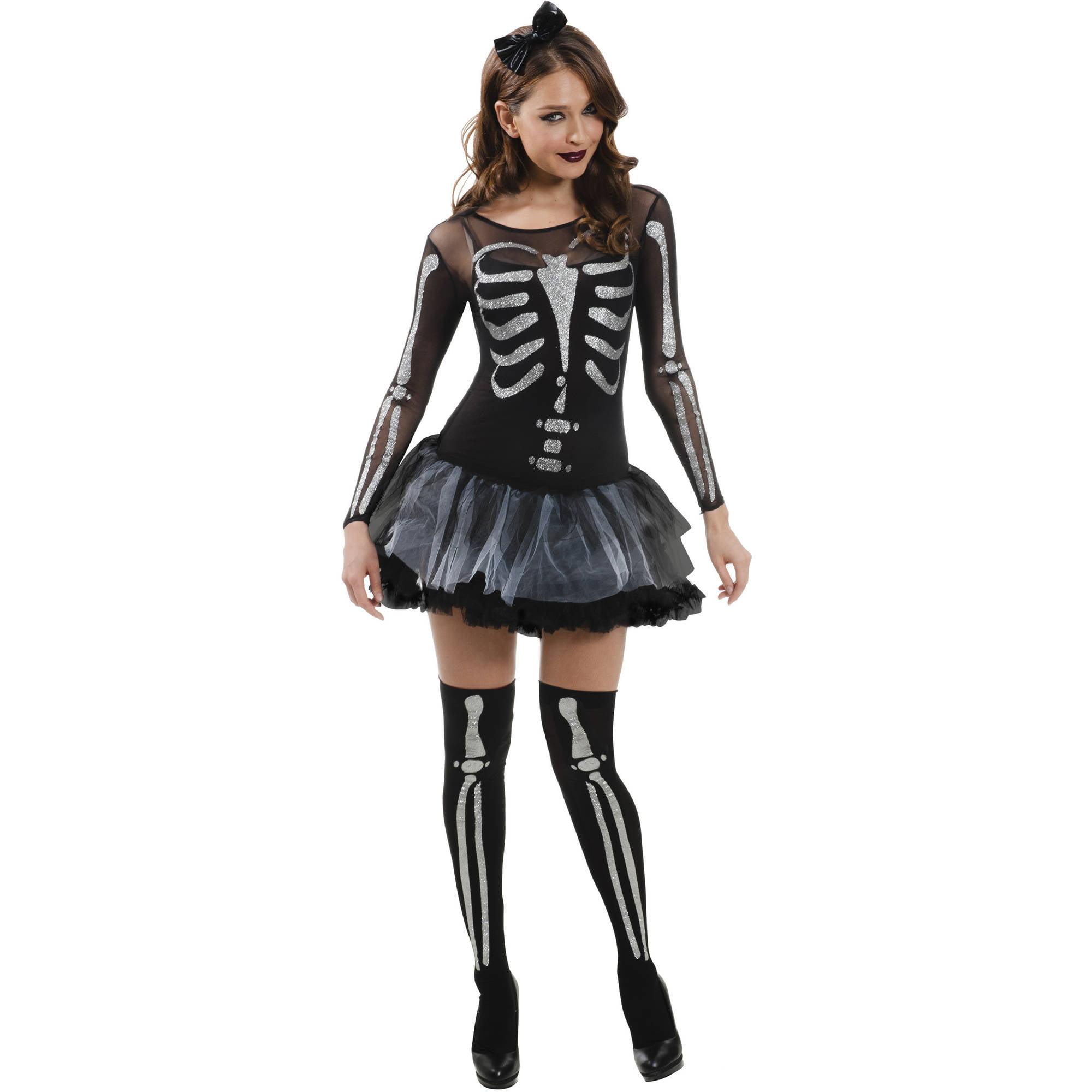 sassy skeleton adult halloween costume walmartcom