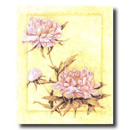 - Japanese Asian Peonies Flowers Wall Picture Art Print