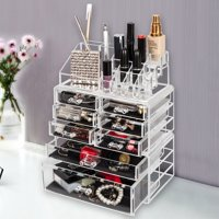Zimtown Makeup Organizer, 7 Drawers, Clear