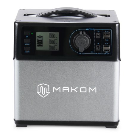 300w Inverter - MAKOM 400Wh Portable Generator Power Energy Storage AC Outlet/Cars with 300W AC Pure Sine Wave Inverter
