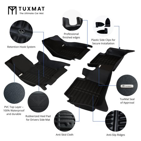 TuxMat Custom Car Floor Mats for BMW 3-Series xDrive 2012-2018 Models - Laser Measured, Largest Coverage, Waterproof, All Weather. - image 2 de 12