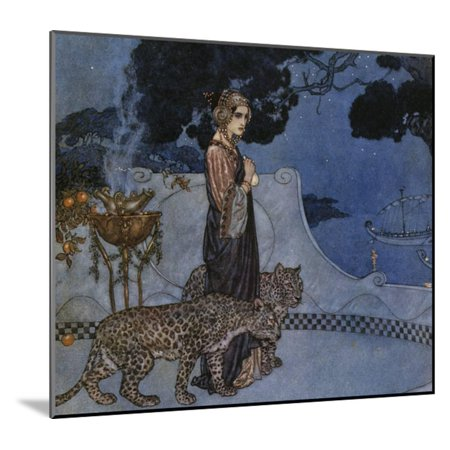 20th Century French Art - Circe (Enchantress), 1911, by Edmund Dulac (1882-1953), Lithograph, England, 20th Century Wood Mounted Print Wall Art