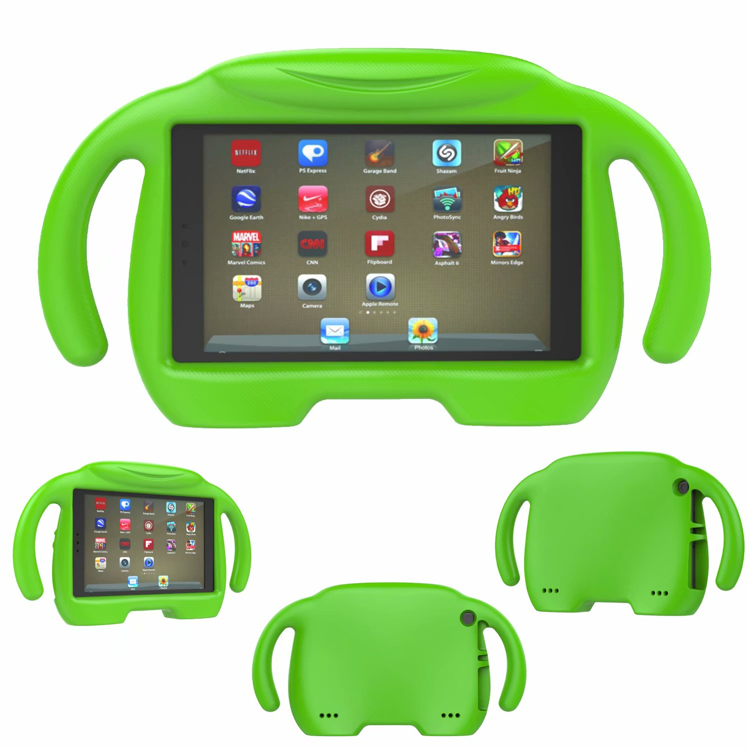 For Amazon Kindle Fire HD 8 2016/2017 Handle Rubber Silicone Kids Shockproof Protector Case Cover