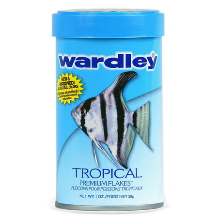 Keeping Tropical Fish - Wardley Tropical Fish Flakes, Tropical Fish Food- 1.0 oz