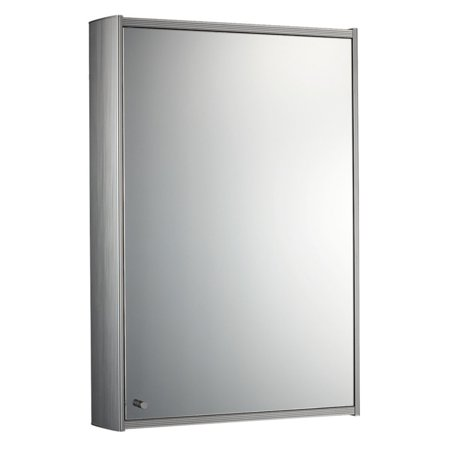 Whitehaus Collection Single Door 15.75W x 23.5H in. Surface Mount Medicine Cabinet WHKEM-23 34' Lighted Medicine Cabinet