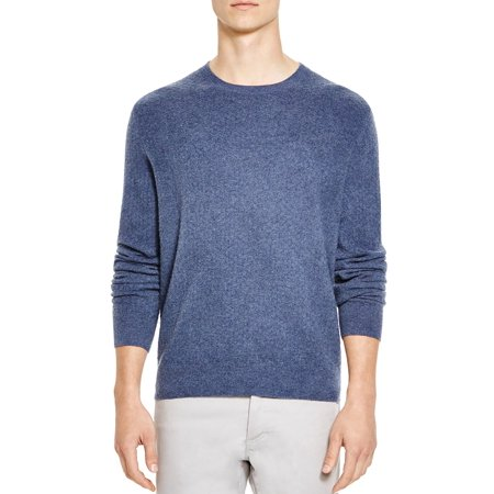 Jacquard Cashmere - Bloomingdales Mens Mini Jacquard Cashmere Crewneck Sweater X-Large Dusty Blue