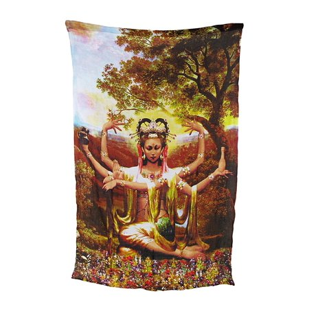 Rayon Kwan Yin Wall Hanging Tapestry 66 In. X 45 In.