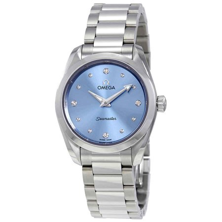Omega Seamaster Aqua Terra Blue Diamond Dial Ladies Watch 220.10.28.60.53.001